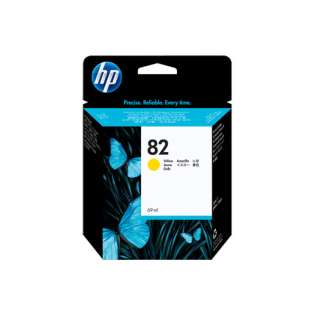 HP 82XL, C4913A Genuine Original (OEM) ink cartridge, high capacity yield, yellow