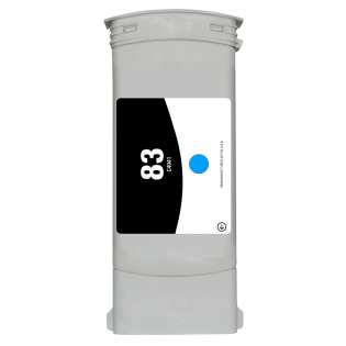 Remanufactured HP 83, C4941A ink cartridge, cyan