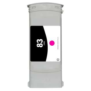 Remanufactured HP 83, C4942A ink cartridge, magenta