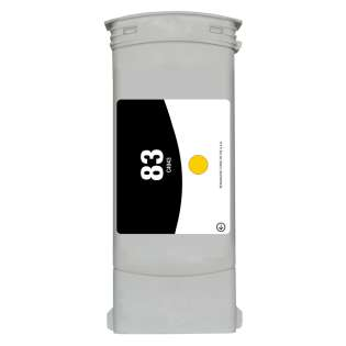 Remanufactured HP 83, C4943A ink cartridge, yellow