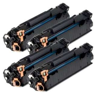 Compatible HP 85A, CE285A toner cartridges (pack of 4)