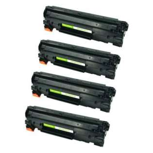 Compatible HP CE285A (85A) toner cartridge - jumbo capacity black - 4-pack