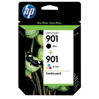 HP 901, CN069FN Genuine Original (OEM) ink cartridges (pack of 2)
