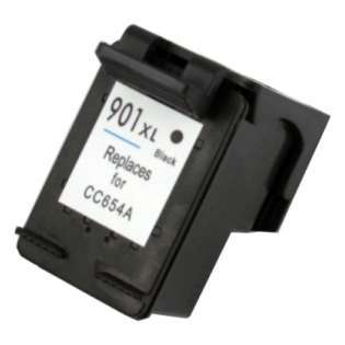 Remanufactured HP 901XL, CC654AN ink cartridge, high capacity yield, black