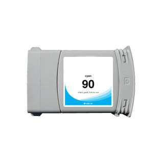 Remanufactured HP 90XL, C5061A ink cartridge, high capacity yield, cyan