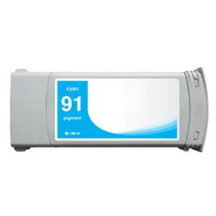Remanufactured HP 91, C9467A ink cartridge, cyan