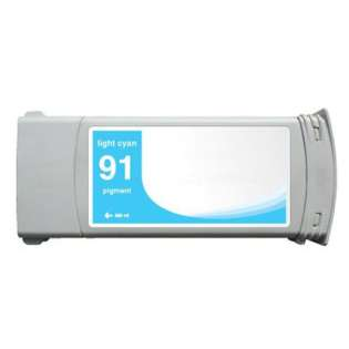Remanufactured HP 91, C9470A ink cartridge, light cyan