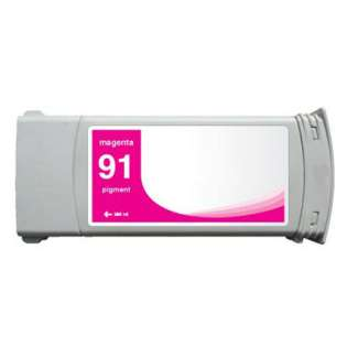 Remanufactured HP 91, C9468A ink cartridge, magenta