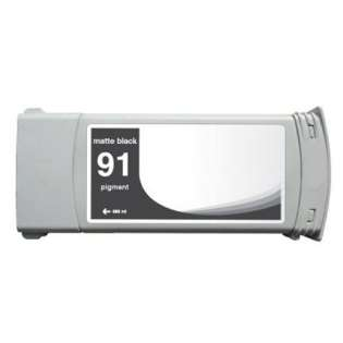 Remanufactured HP 91, C9464A ink cartridge, matte black