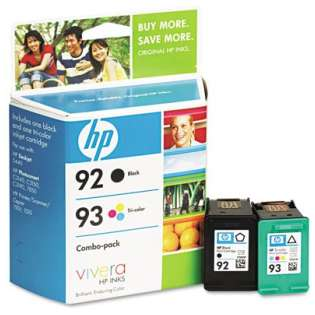 HP 92, 93, C9513FN Genuine Original (OEM) ink cartridges (pack of 2)