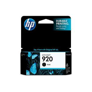 HP 920, CD971AN Genuine Original (OEM) ink cartridge, black