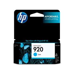 HP 920, CH634AN Genuine Original (OEM) ink cartridge, cyan