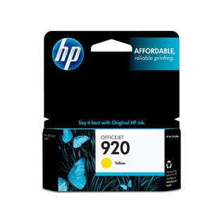 HP 920, CH636AN Genuine Original (OEM) ink cartridge, yellow