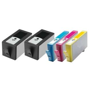Remanufactured HP 920XL ink cartridges, high capacity yield, 5 pack