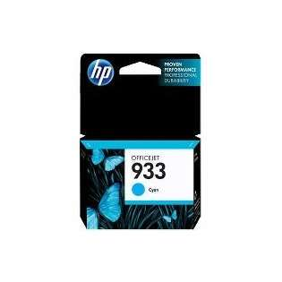 HP 933, CN058AN Genuine Original (OEM) ink cartridge, cyan, 330 pages
