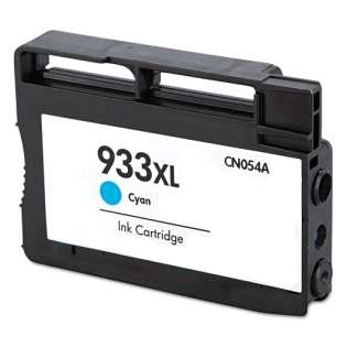 Remanufactured HP 933XL, CN054AN ink cartridge, high capacity yield, cyan