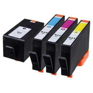 Remanufactured HP 934XL, 935XL ink cartridges, high capacity yield (pack of 4)