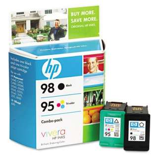 HP 98, 95, CB327FN Genuine Original (OEM) ink cartridges (pack of 2)