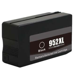 Remanufactured HP F6U19AN (HP 952XL) ink cartridge - high capacity black