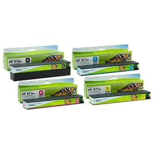 Premium HP 970XL, 971XL ink cartridges, USA made, high capacity yield (pack of 4)