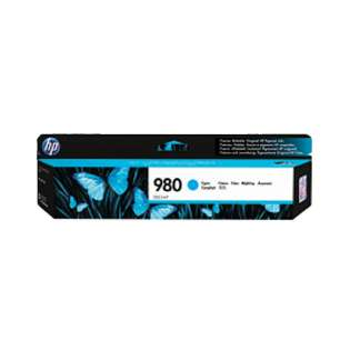 HP 980, D8J07A Genuine Original (OEM) ink cartridge, cyan