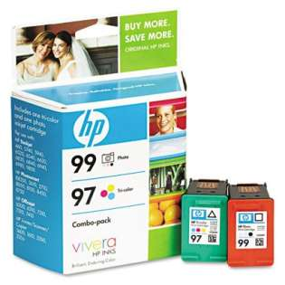 HP 99, 97, C9517FN Genuine Original (OEM) ink cartridges (pack of 2)