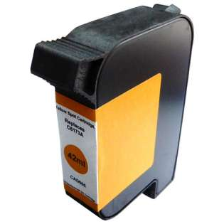Remanufactured HP C6173A postage meter ink cartridge, spot color yellow