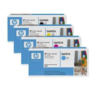 OEM HP Q6000A / Q6001A / Q6002A / Q6003A cartridges - 4 pack