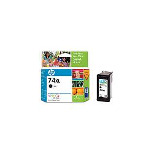 HP 74XL, CB336WN Genuine Original (OEM) ink cartridge, high capacity yield, black