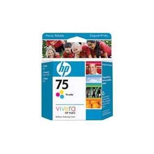 HP 75, CB337WN Genuine Original (OEM) ink cartridge, tri-color