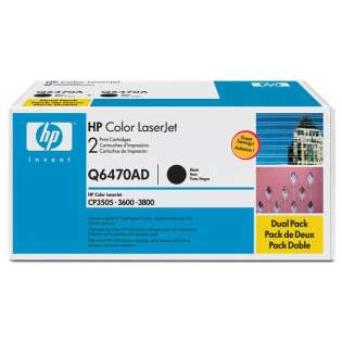 OEM HP Q6470AD cartridges - 2 pack