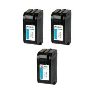 Remanufactured HP 23 ink cartridges (pack of 3)