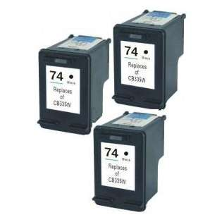 Remanufactured HP 74 ink cartridges (pack of 3)