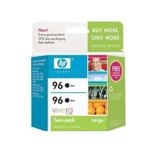 HP 96, C9348FN Genuine Original (OEM) ink cartridges, black (pack of 2)
