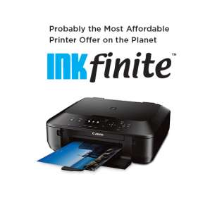 INKfinite Printer Plan: Brand new Canon MG5620 Printer with $4.99 INKS guaranteed for life