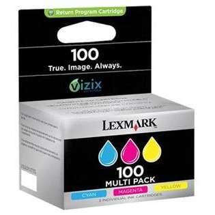 Lexmark 100, 14N0685 Genuine Original (OEM) ink cartridges (pack of 3)