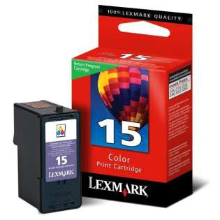 Lexmark 15, 18C2110 Genuine Original (OEM) ink cartridge, color, 150 pages