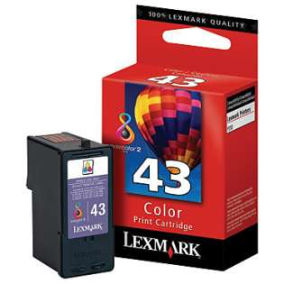 Lexmark 43XL, 18Y0143 Genuine Original (OEM) ink cartridge, high capacity yield, color
