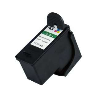 Remanufactured Lexmark 43XL, 18Y0143 ink cartridge, high capacity yield, color