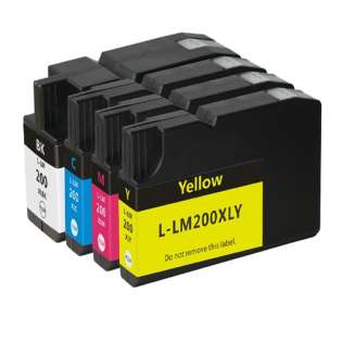 Compatible Lexmark 200XL ink cartridges (pack of 4)