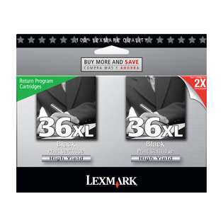 Lexmark 36XL, 18C2230 Genuine Original (OEM) ink cartridges (pack of 2)