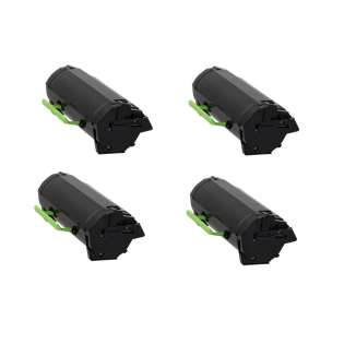 Remanufactured Lexmark 50F1X00 (501X) toner cartridges - extra high capacity yield - (pack of 4)