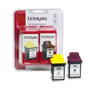 Lexmark 20, 70, 15M2328 Genuine Original (OEM) ink cartridges (pack of 2)
