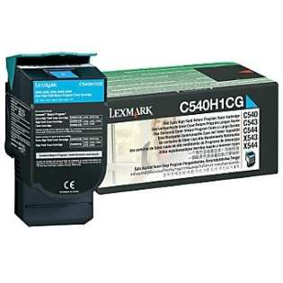 OEM Lexmark C540H1CG cartridge - high capacity cyan