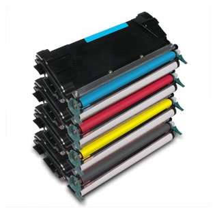 Remanufactured Lexmark C746H2KG / C746A2CG / C746A2MG / C746A2YG toner cartridges - Pack of 4