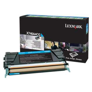 OEM Lexmark X746A4CG cartridge - government TAA cyan