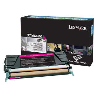 OEM Lexmark X746A4MG cartridge - government TAA magenta