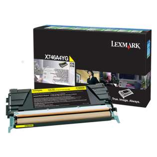 OEM Lexmark X746A4YG cartridge - government TAA yellow