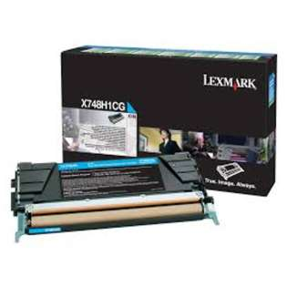 OEM Lexmark X748H1CG cartridge - high capacity cyan
