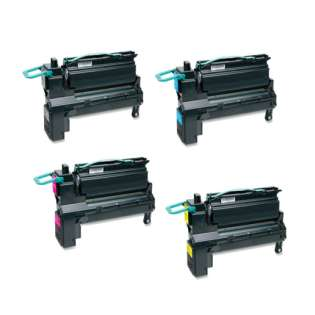 Remanufactured Lexmark X792 toner cartridges - extra high capacity yield - (pack of 4)